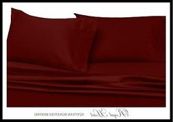 Solid Burgundy King Size Pillowcases, 2PC Pillow Cases, 100%