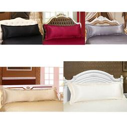 Solid Color Luxury Silk Body Full Long Pillow Pillow Case Co