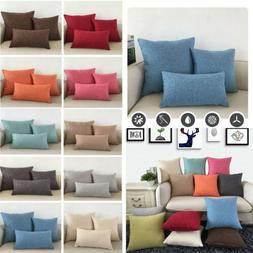 Solid Color Pillowcase Hotel Home Bedding Pillow Cases Cover