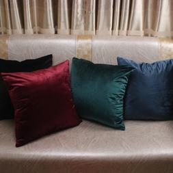 Solid Colors Luxury Velvet Cushion Cover Decorative Pillow C
