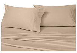 Solid Tan King Size Pillowcases, 2PC Pillow Cases, 100% Cott