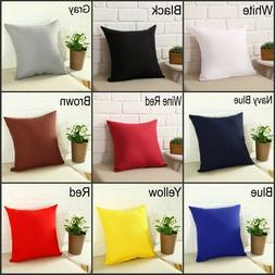Square Home Sofa Decor Pillow Cover Case Cushion Cover Size