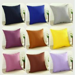 square pillowcase home sofa decor pillow cover