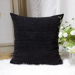 HOME BRILLIANT Large Striped Corduroy European Throw Pillow