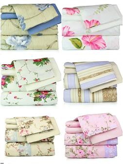 Super Soft Luxury Floral Six Piece Bed Sheet Set comes in 4