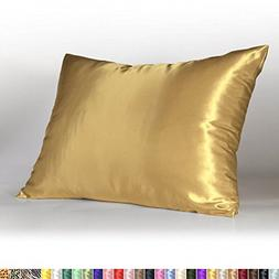 Sweet Dreams 2-Pack Luxury Satin Pillowcase with Zipper Stan