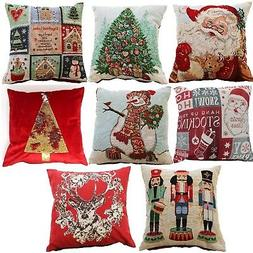 CHRISTMAS TAPESTRY CUSHION COVER 43 x 43cm XMAS PILLOW CASE
