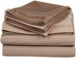 taupe solid bedding item 600 thread count