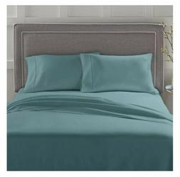 Teal Twin 3 Pc Better Homes 100% Cotton 300 Thread Sheet Pil