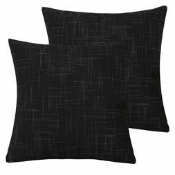 Textured Linen Throw Pillow Cases Cushion Covers Solid Pillo