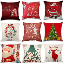 Throw Pillow Case 18x18 Christmas Pillow Cover Home Covers C