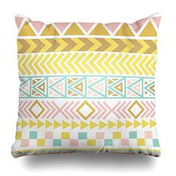 NOWCustom Throw Pillow Cover Abstract Pink Geometric Tribal