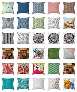 "Throw Pillow Cover Decorative Cushion Case with Zipper 16"" 1"