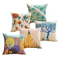 sykting Decorative Throw Pillow Covers 18 x 18 Square Pillow