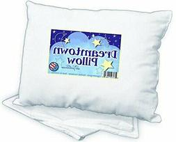 toddler pillow with pillowcase 14x19 white chiropr