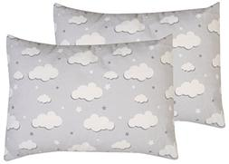 Toddler Pillowcase, 2 pack- Premium Cotton Flannel, SOFT & B