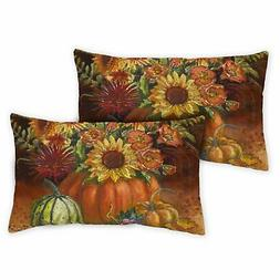 Toland Fall Burst 12 x 19 Inch Outdoor Pillow Case