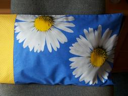 TRAVEL SIZE PILLOW CASE 2 SIDED LARGE SUNFLOWER/GOLD POLK-A-