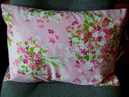 TRAVEL SIZE PILLOW CASE ENVELOPE STYLE PINK/ROSE FLORAL  FIT