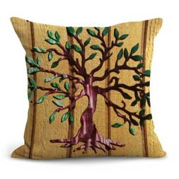 tree of life cushion cover decorative pillow case for couch