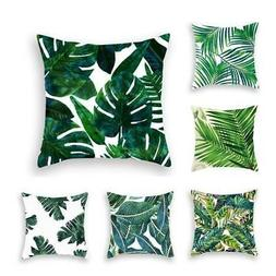 Tropical Plants Pillow Case Polyester Decorative Pillowcases