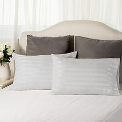 TWO-Pack Satin Pillowcases Set for Hair COOL and EASY TO WAS