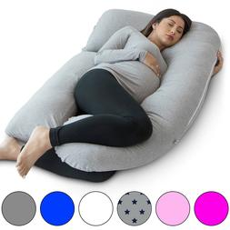 PharMeDoc U-Shape Full Body Pregnancy Pillow + Detachable Ex