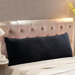 Reafort Ultra Soft Sherpa Body Pillow Cover/Case with Zipper