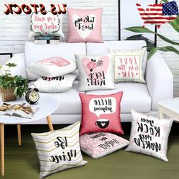 US 18''*18''Throw Pillow Cases Waist Cushion Cover Bed Sofa