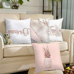 US Fashion Pink Series Geometric Cushion Cover Pillow Case T