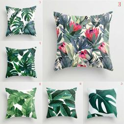 US Outdoor Floral Leaf Cotton Cushion Garden Waterproof Pill