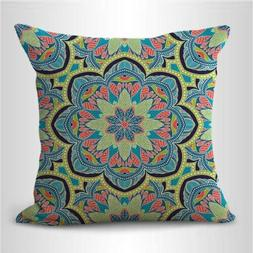 US SELLER-bohemian mandala cushion cover decorative throw pi
