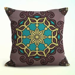 US Seller- completeness mandala boho decorative pillow case