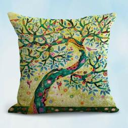 decorative pillow case for couch on sale tree of life cushio