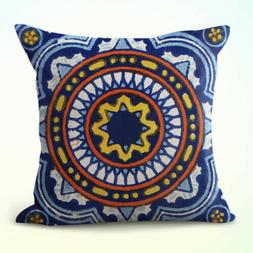 US Seller-decorative throw pillow case on sale Azulejo majol
