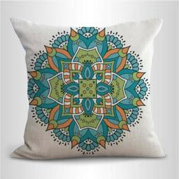 mandala eternity unity decorative pillow case for couch on s
