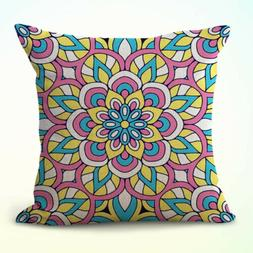 US Seller- mandala eternity unity decorative throw pillow ca