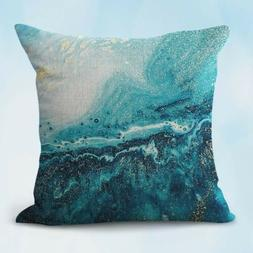 US Seller- rock quartz marble abstract cushion cover throw p