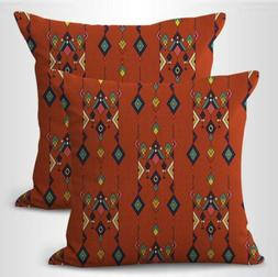 US SELLER- set of 2 pillow case covers Mexico Aztec south-we