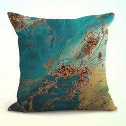 US Seller- throw pillow case couch rock quartz agate marble
