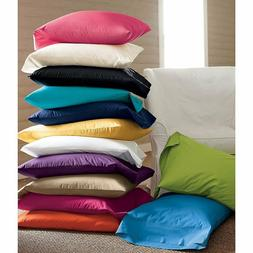 WINTER SALES!! NEW 2PC BED PILLOWCASES SOLID 100% COTTON IN