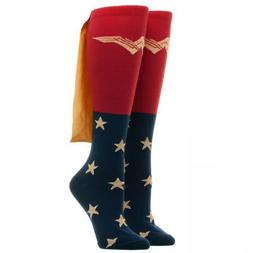 Wonder Woman Movie Caped Knee High Socks - Authentic DC Comi