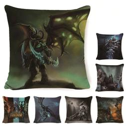 World of War Craft Seat Sofa Pillow Case Classic Film Decora
