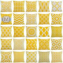 Yellow Throw PILLOW COVER Couch Sofa Waist Bed Cushion Case