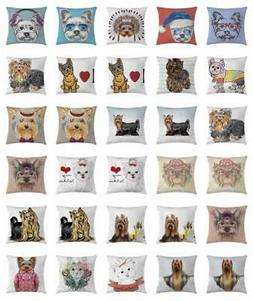 Yorkie Throw Pillow Cases Cushion Covers Home Decor 8 Sizes