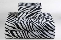 Zebra Print Luxury Bedding Item 100% Cotton 15 inch Drop 600
